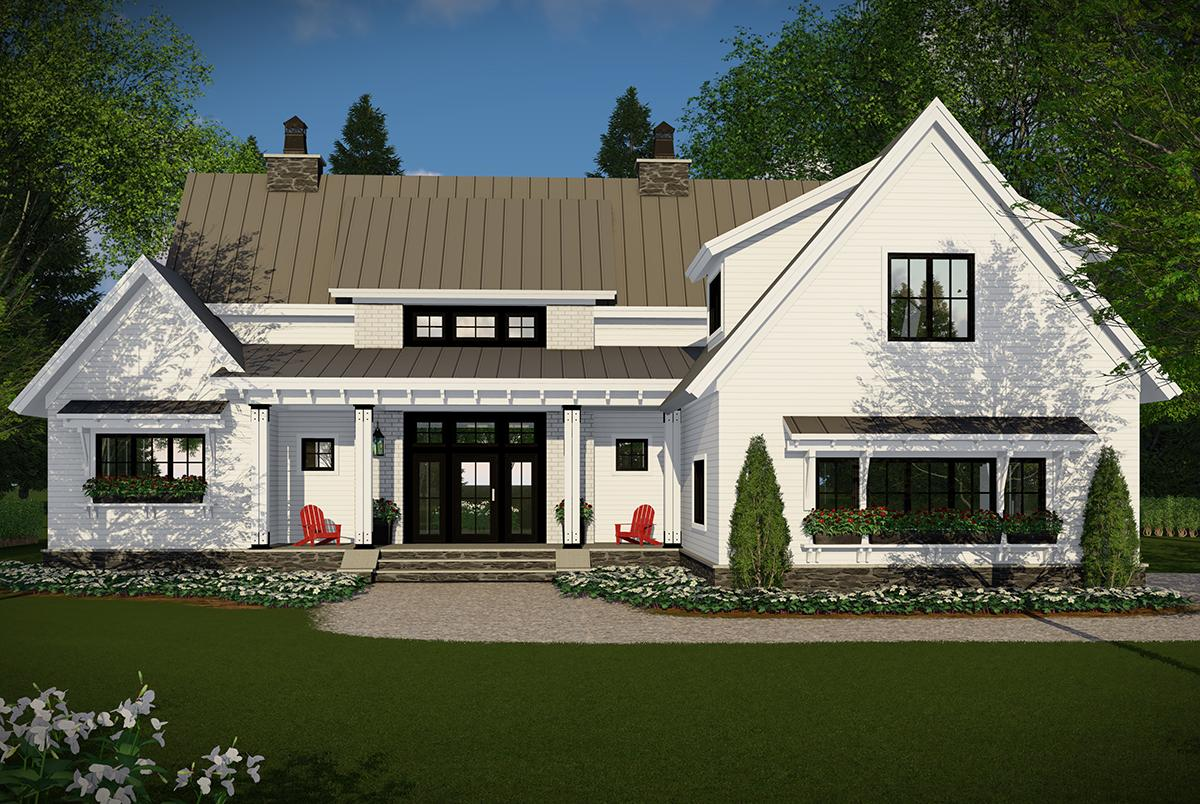 Modern Farmhouse House Plan #098-00296 Elevation Photo