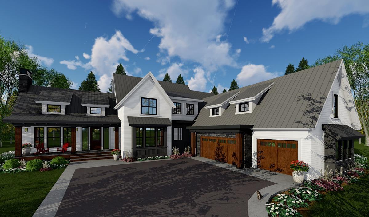 Modern Farmhouse Plan: 3,052 Square Feet, 4 Bedrooms, 3.5 ...