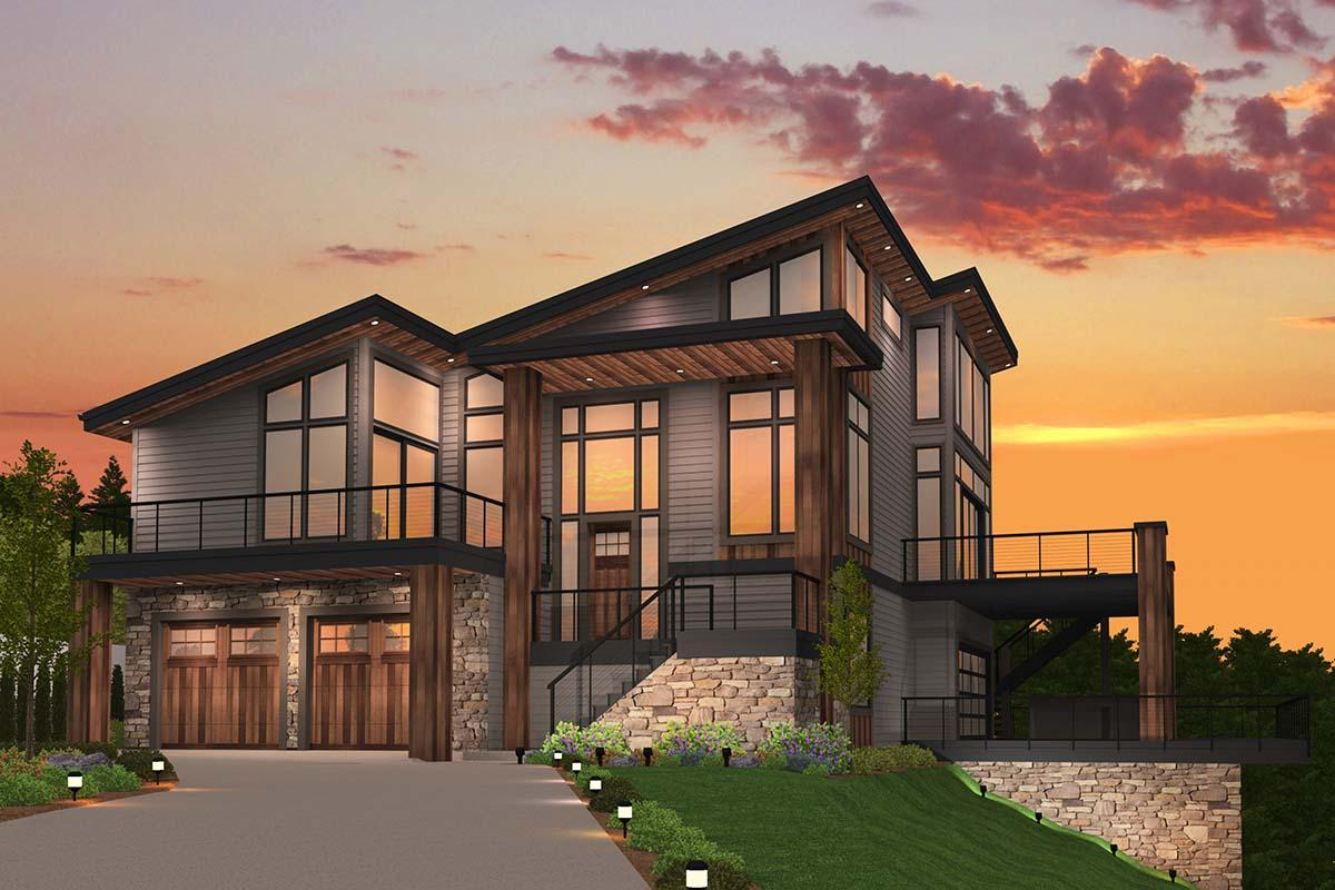 Contemporary Plan: 3,334 Square Feet, 4 Bedrooms, 3.5 ...