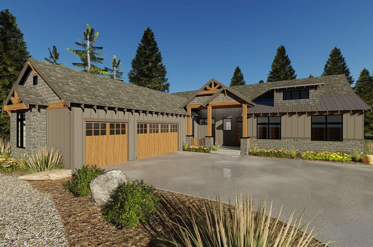 Mountain plan 1 847 square feet 3 bedrooms 2 5 - How long to paint a 3 bedroom house ...