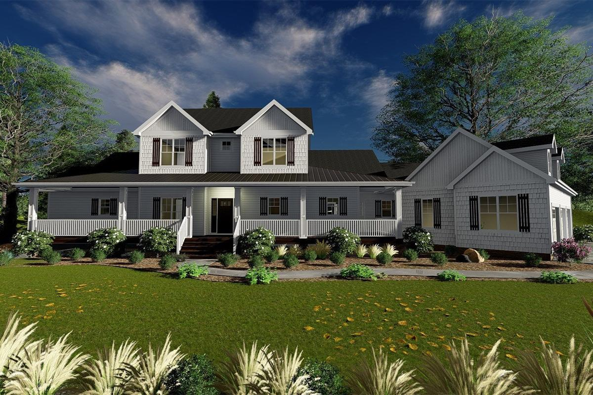 4 Bed, 3 Bath, 2904 Square Foot House Plan - #963-00246