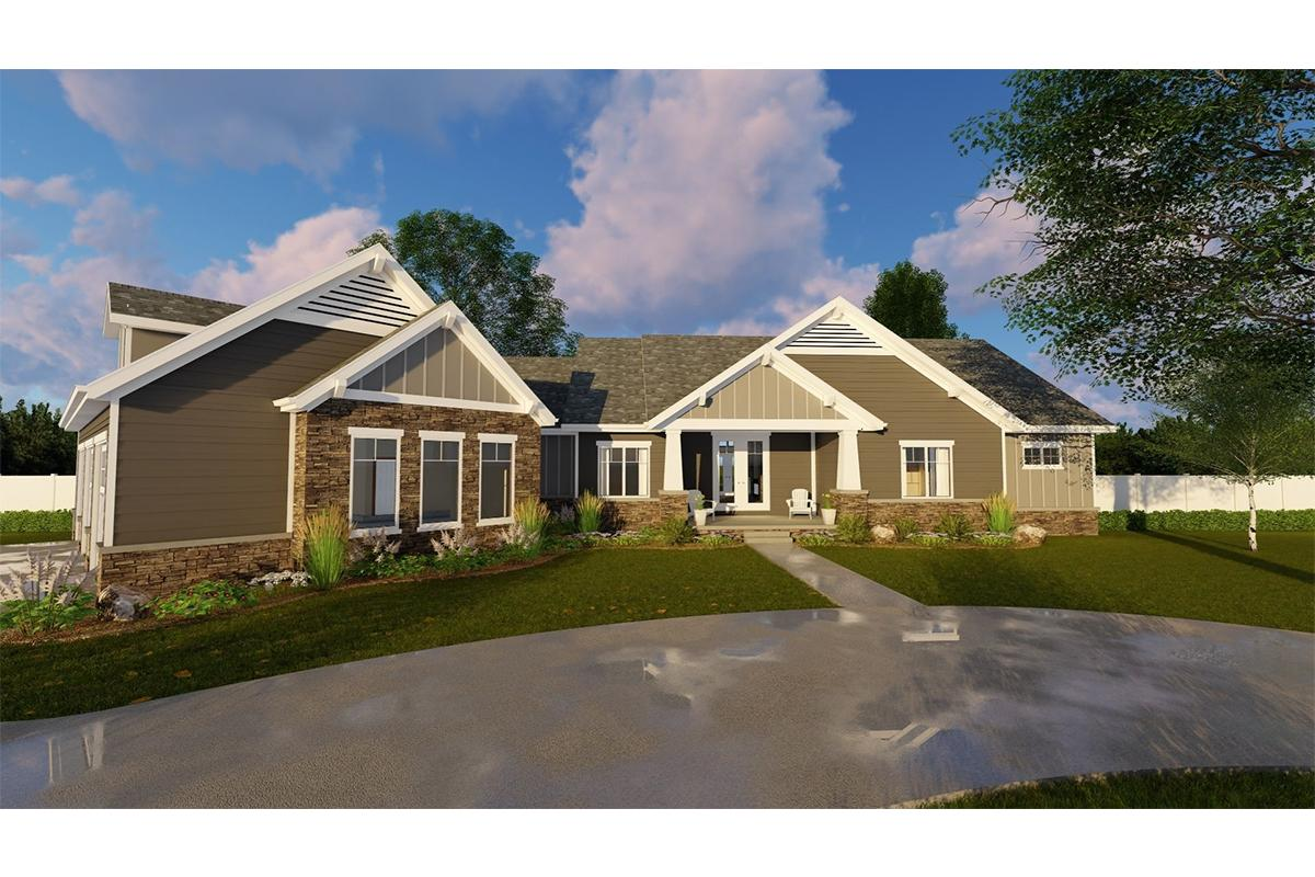 2 Bed, 2 Bath, 2712 Square Foot House Plan - #963-00303