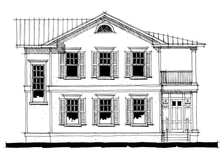 Charleston Single Side House Plans