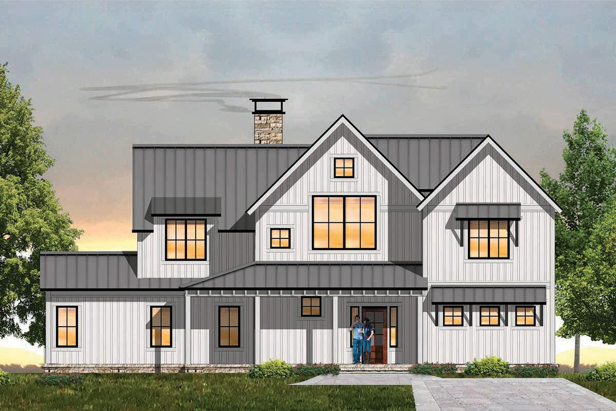4 Bed, 3 Bath, 2998 Square Foot House Plan - #8504-00126