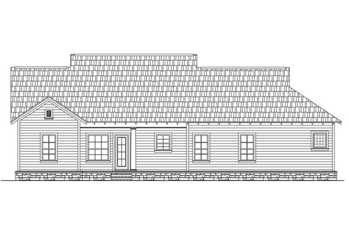 House Plan 348-00169 - Craftsman Plan: 1,509 Square Feet, 3 Bedrooms, 2 Bathrooms