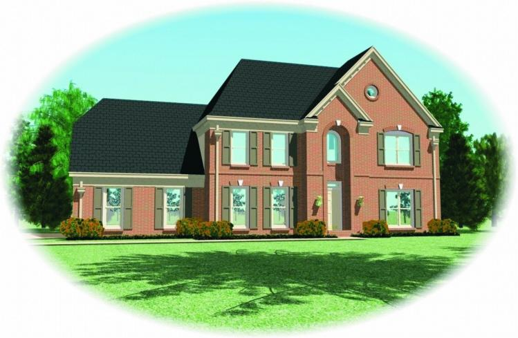 4 Bed, 3 Bath, 2919 Square Foot House Plan - #053-00348