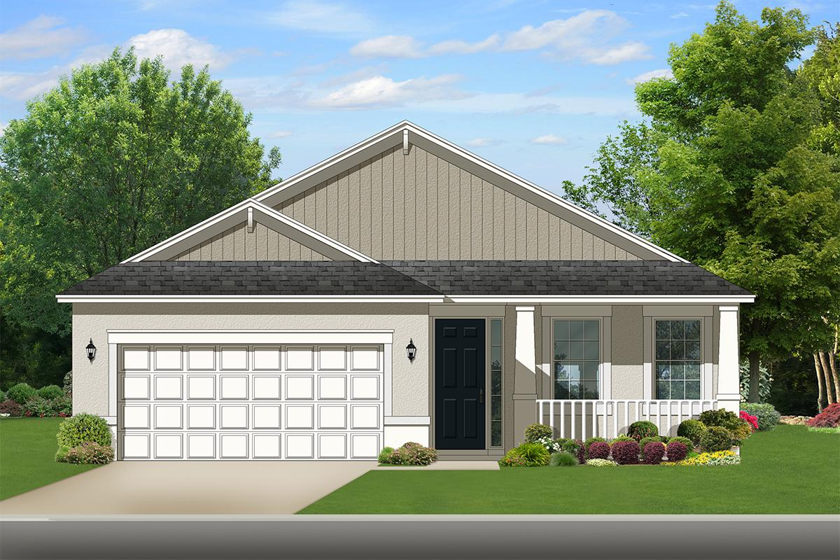 2 Bed, 2 Bath, 1400 Square Foot House Plan - #3978-00117