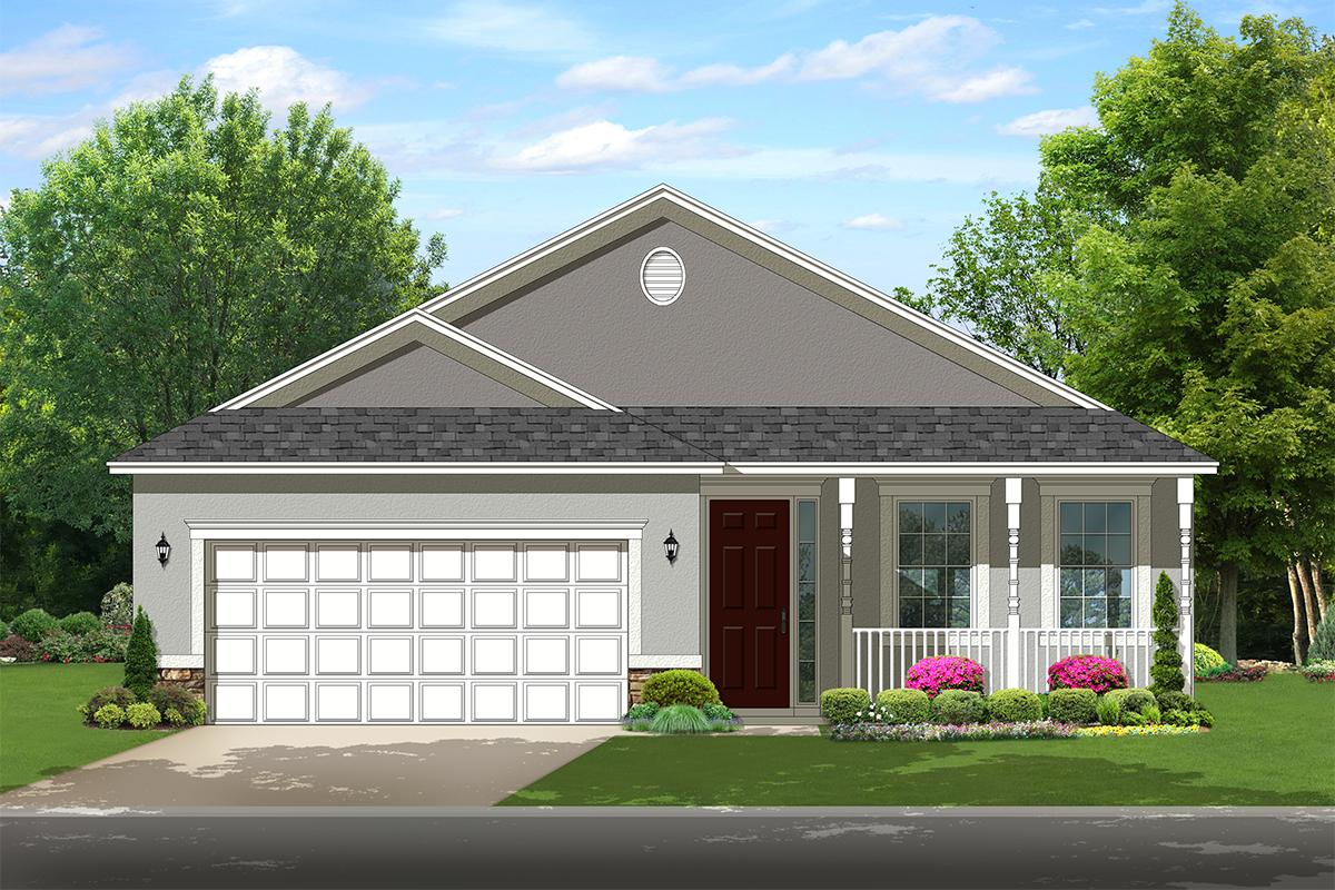 2 Bed, 2 Bath, 1400 Square Foot House Plan - #3978-00118