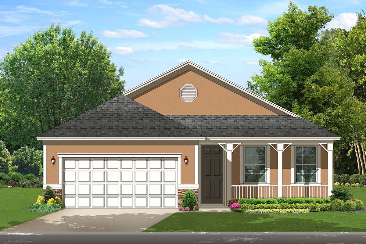 2 Bed, 2 Bath, 1503 Square Foot House Plan - #3978-00121