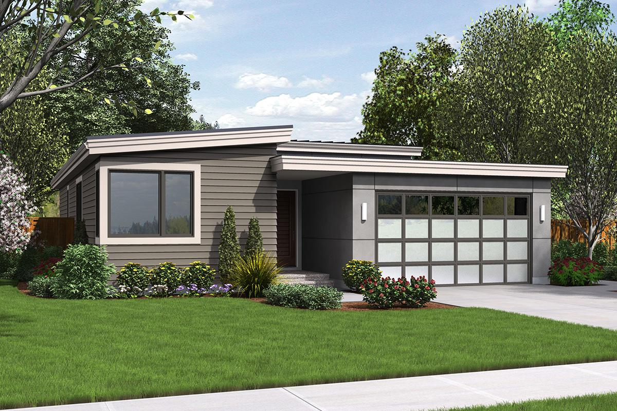 Contemporary House Plan #2559-00676 Elevation Photo