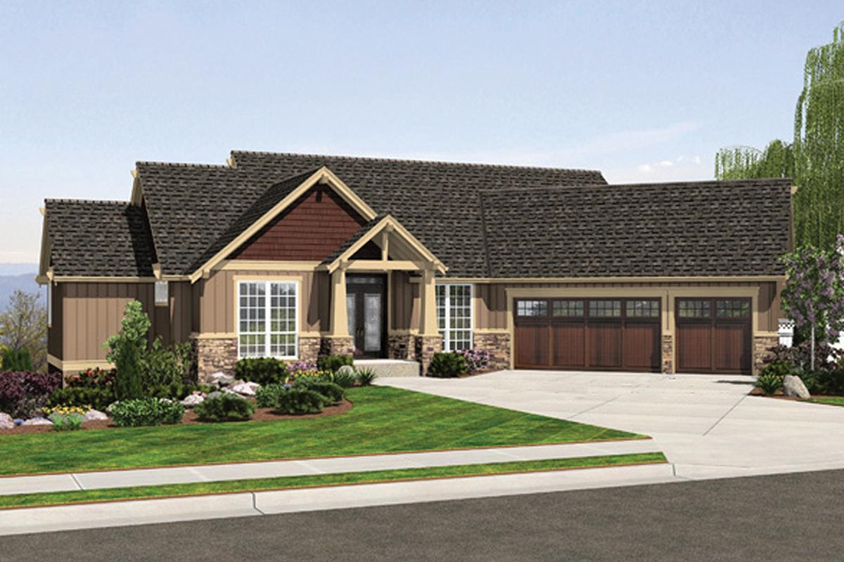 4 Bed, 3 Bath, 3506 Square Foot House Plan - #2559-00708