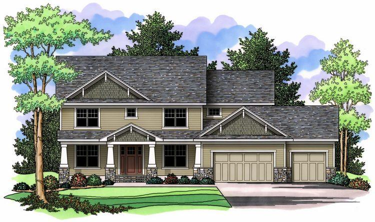 3 Bed, 2 Bath, 3386 Square Foot House Plan - #098-00026