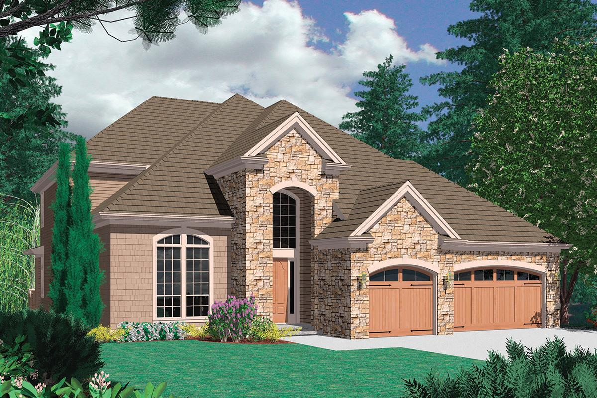 3 Bed, 2 Bath, 3859 Square Foot House Plan - #2559-00537