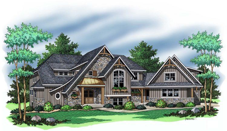 3 Bed, 2 Bath, 3715 Square Foot House Plan - #098-00028