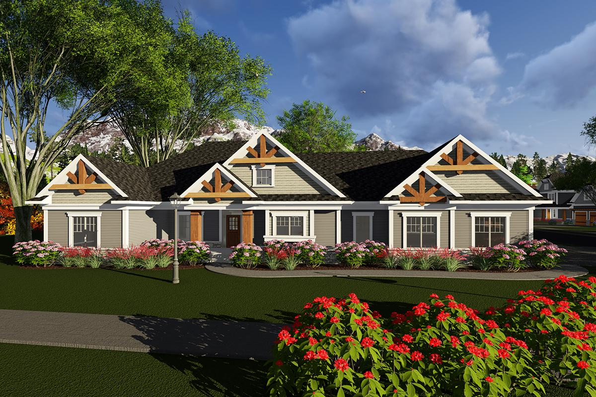 2 Bed, 2 Bath, 2495 Square Foot House Plan - #1020-00067
