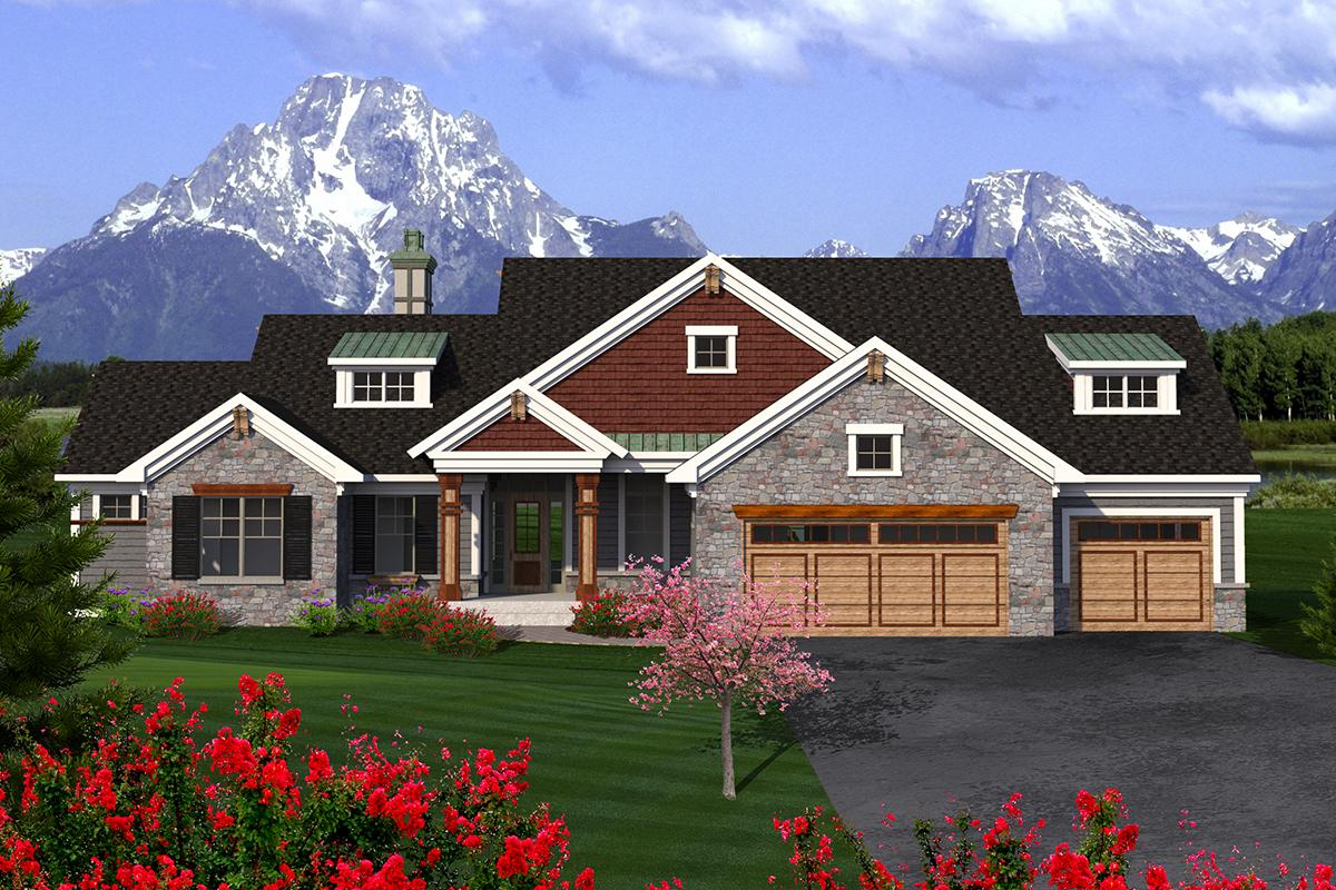 2 Bed, 2 Bath, 2391 Square Foot House Plan - #1020-00174