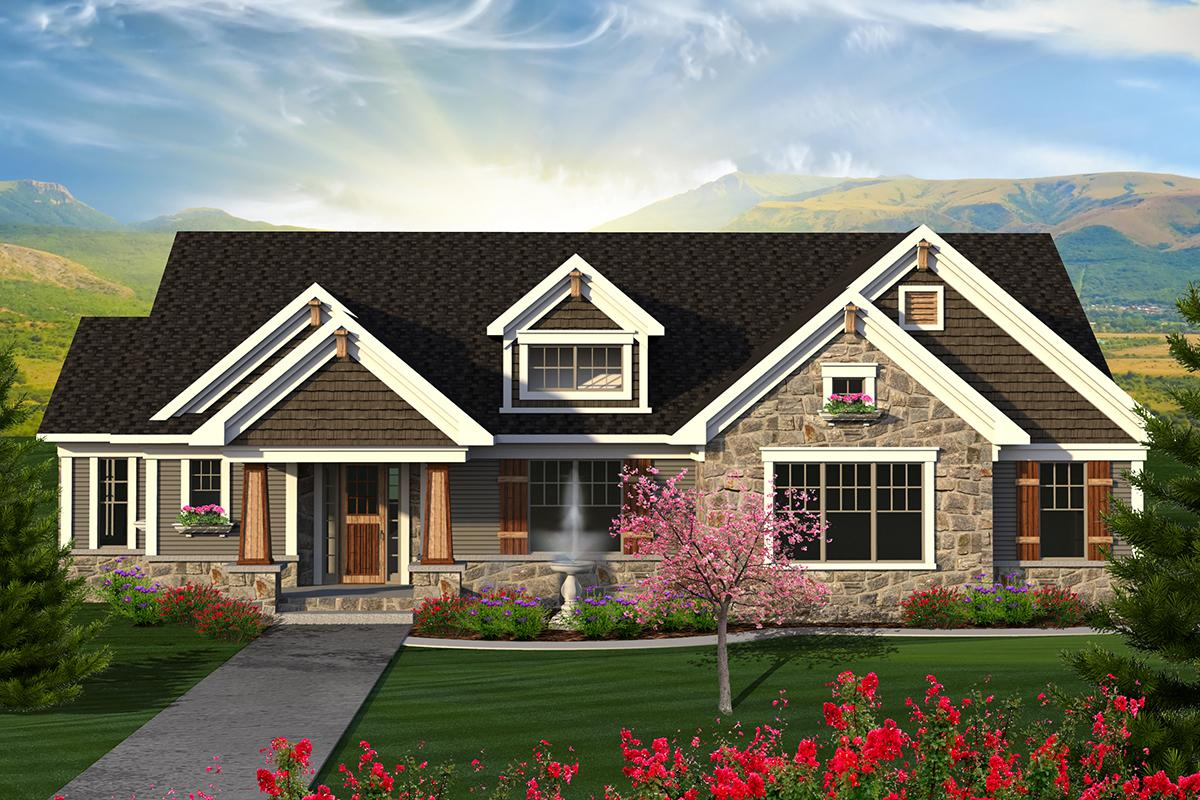 4 Bed, 3 Bath, 2782 Square Foot House Plan - #1020-00178