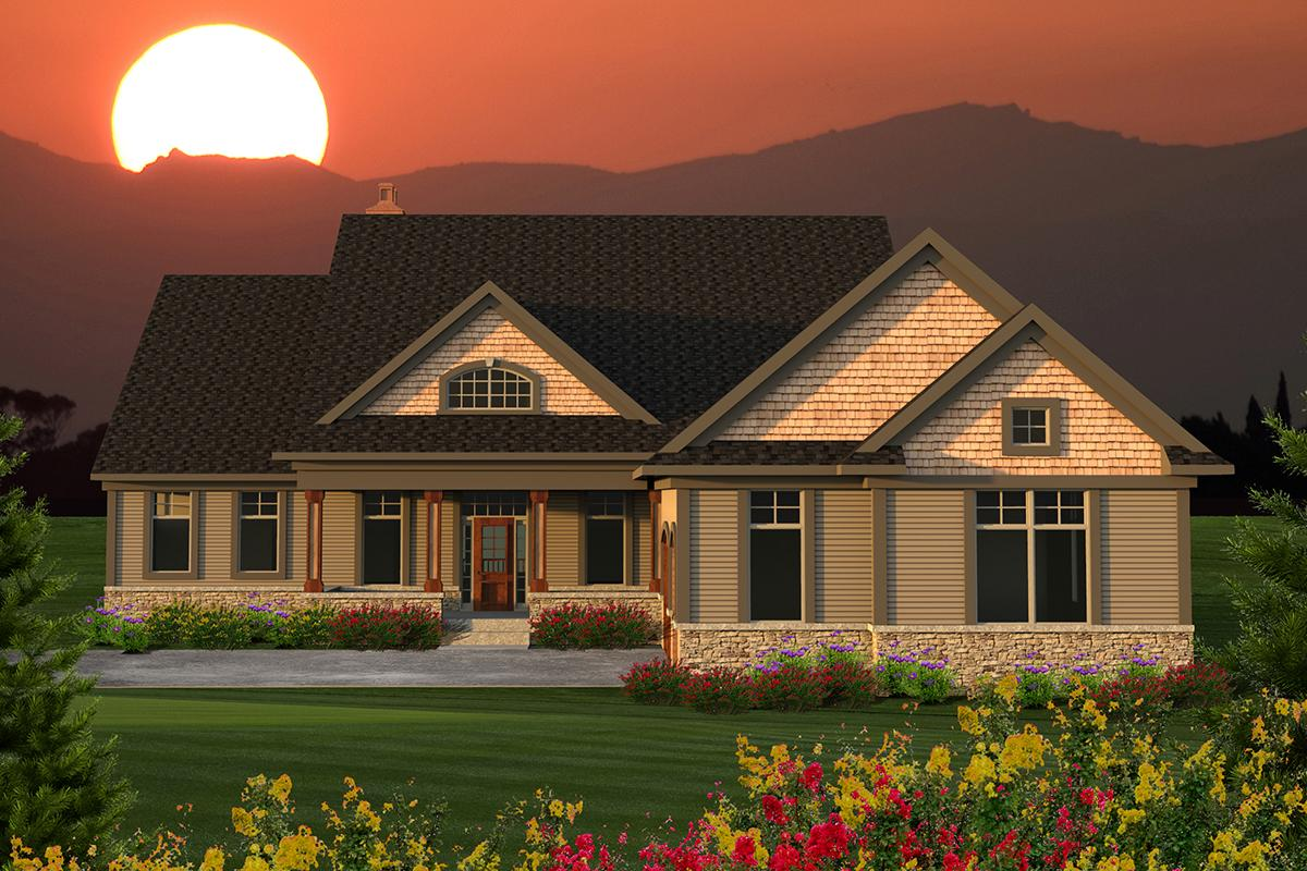 2 Bed, 2 Bath, 2866 Square Foot House Plan - #1020-00179