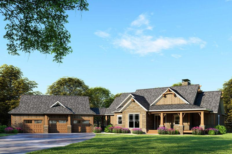 4 Bed, 4 Bath, 3734 Square Foot House Plan - #110-01054