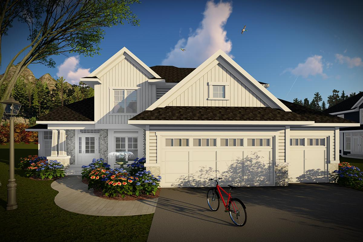 4 Bed, 2 Bath, 2316 Square Foot House Plan - #1020-00292