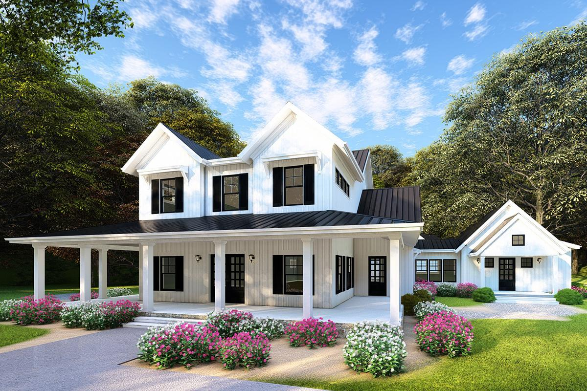 4 Bed, 3 Bath, 3342 Square Foot House Plan - #8318-00103