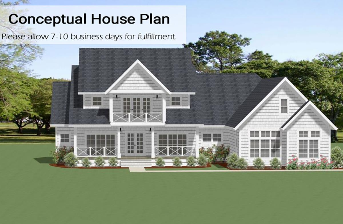 4 Bed, 3 Bath, 3392 Square Foot House Plan - #6849-00063
