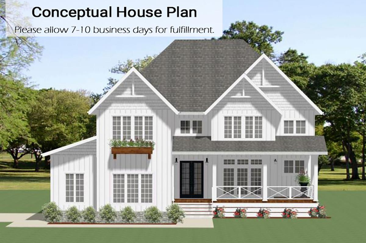 4 Bed, 3 Bath, 3176 Square Foot House Plan - #6849-00068