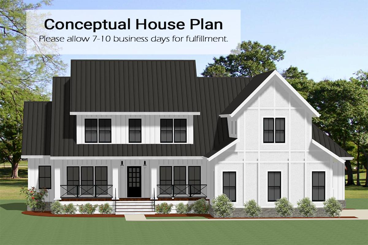 4 Bed, 4 Bath, 3565 Square Foot House Plan - #6849-00072