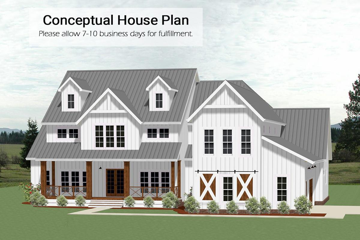 4 Bed, 4 Bath, 3556 Square Foot House Plan - #6849-00074