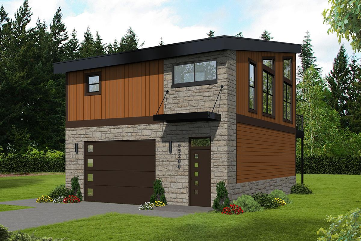 Modern Plan: 825 Square Feet, 1 Bedroom, 1 Bathroom - 940 ...