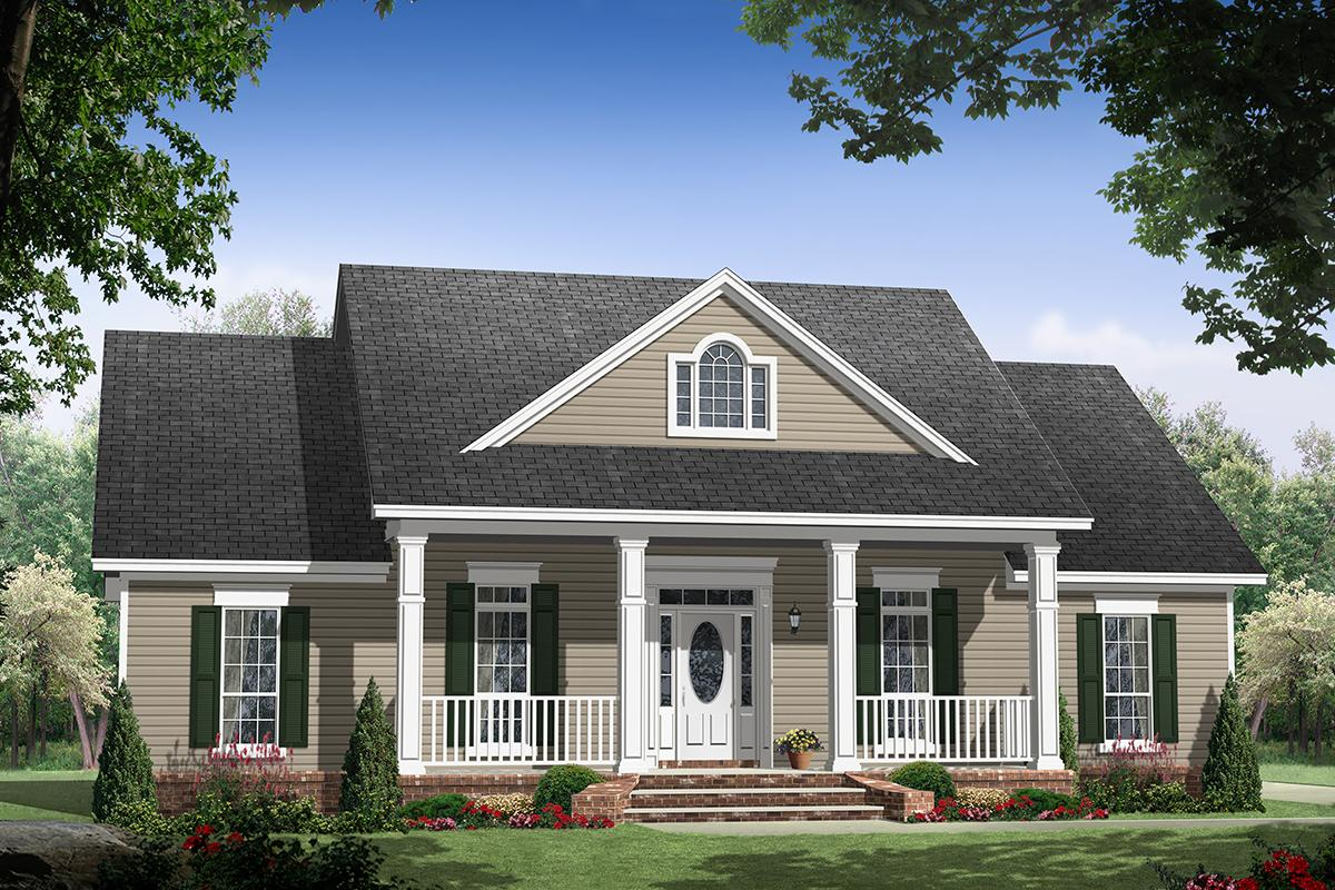 Country House Plan #348-00284 Elevation Photo