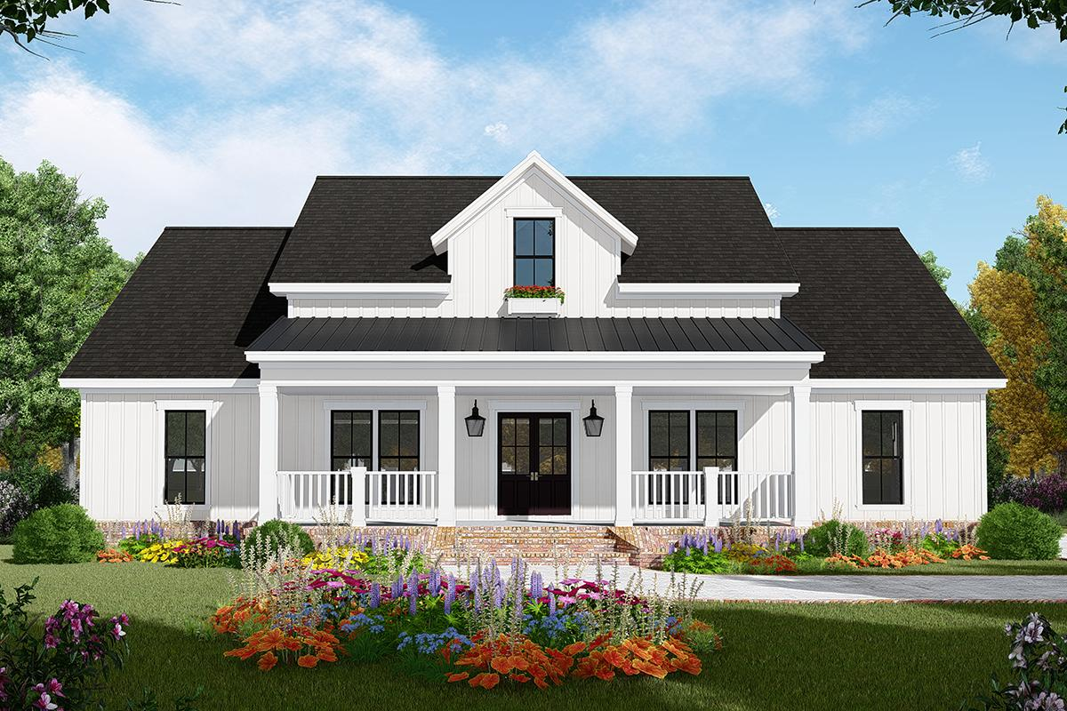 Modern Farmhouse Plan: 1,800 Square Feet, 3 Bedrooms, 2.5 ...
