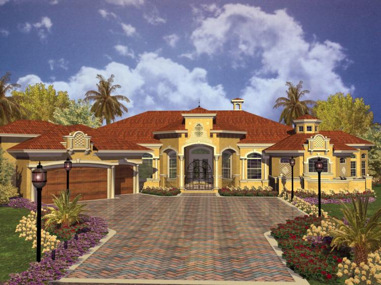Mediterranean plan 5 480 square feet 4 bedrooms 5 5 for 3000 sq ft mediterranean house plans