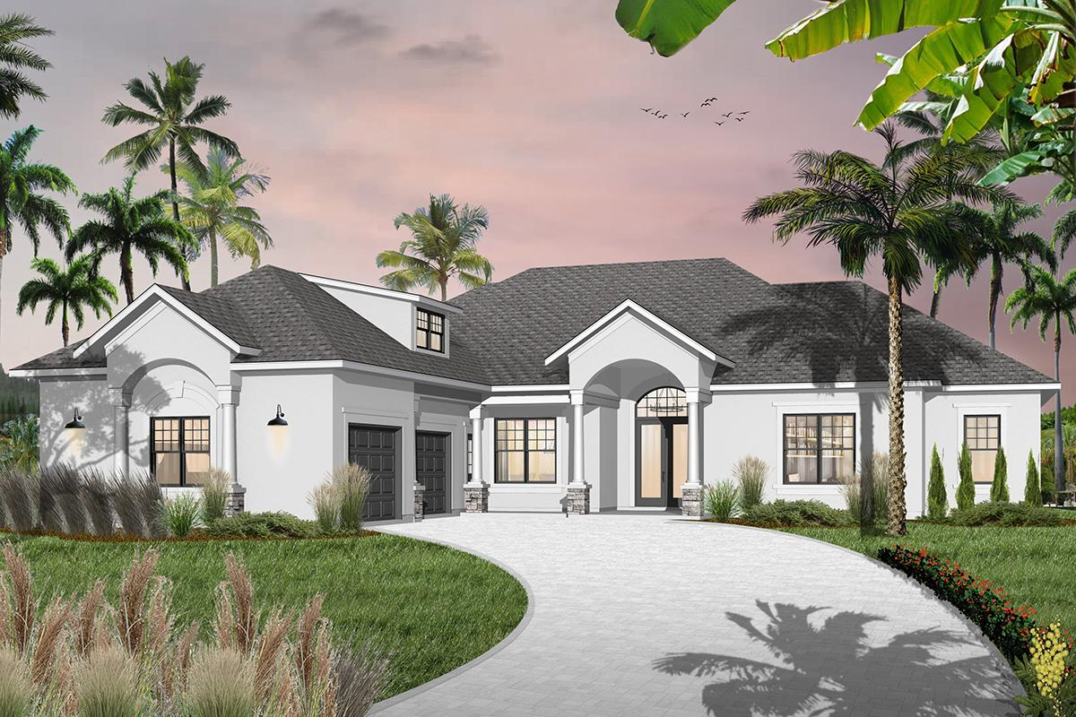 3 Bed, 3 Bath, 2489 Square Foot House Plan - #034-00208