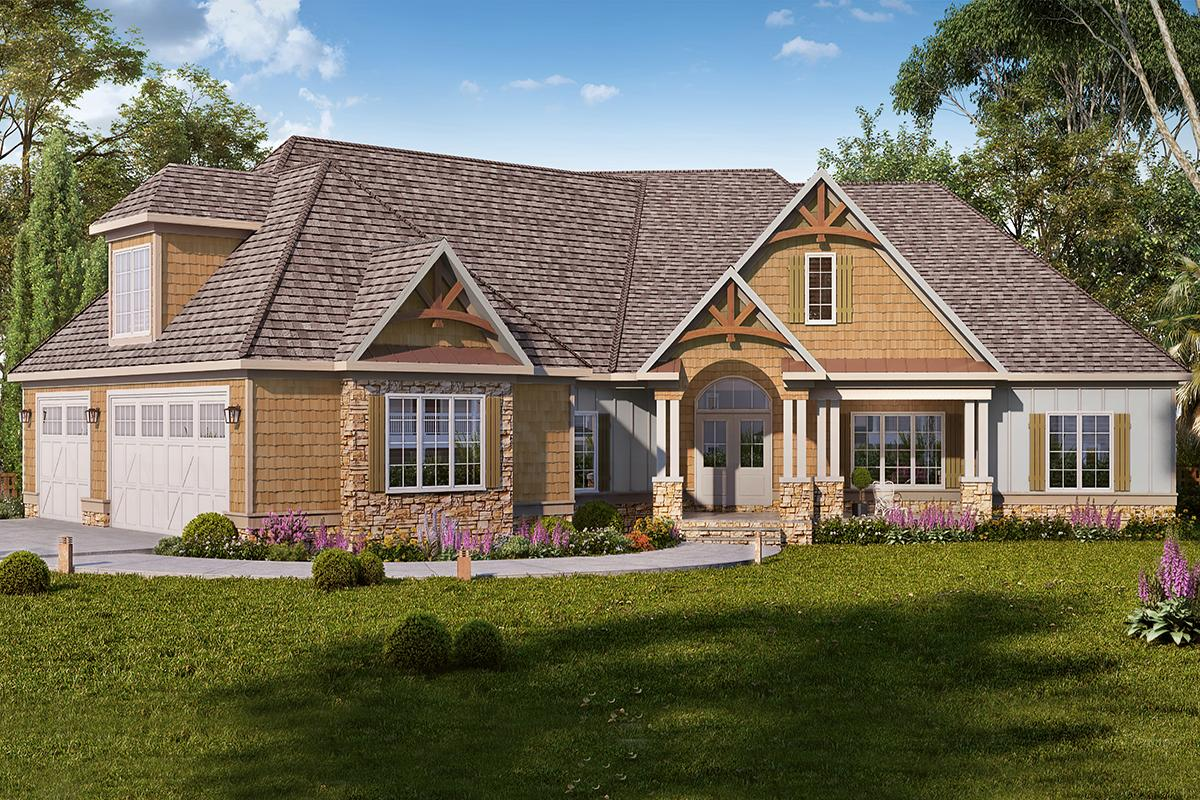 4 Bed, 3 Bath, 3736 Square Foot House Plan - #6082-00167