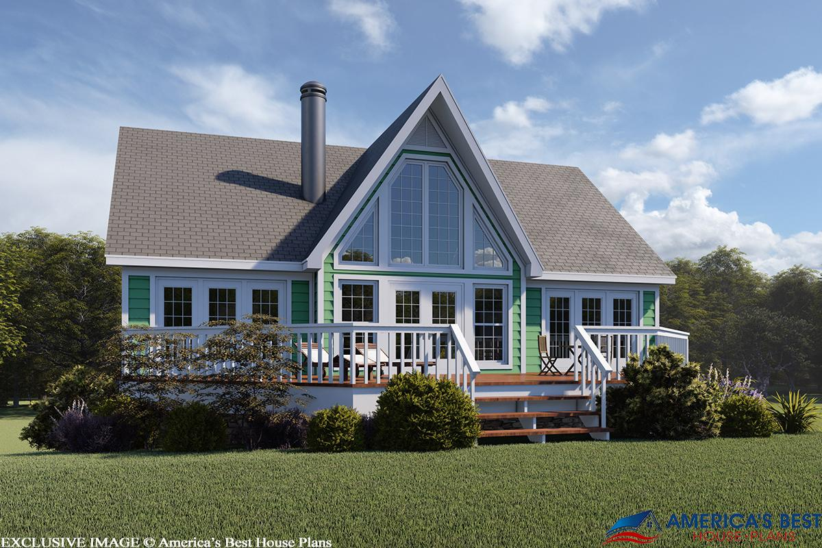 2 Bed, 2 Bath, 1280 Square Foot House Plan - #053-00214