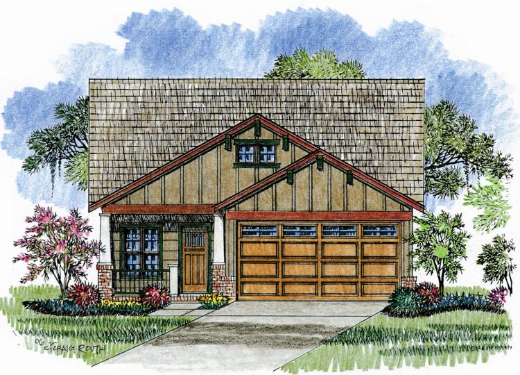 3 Bed, 2 Bath, 1600 Square Foot House Plan - #041-00027