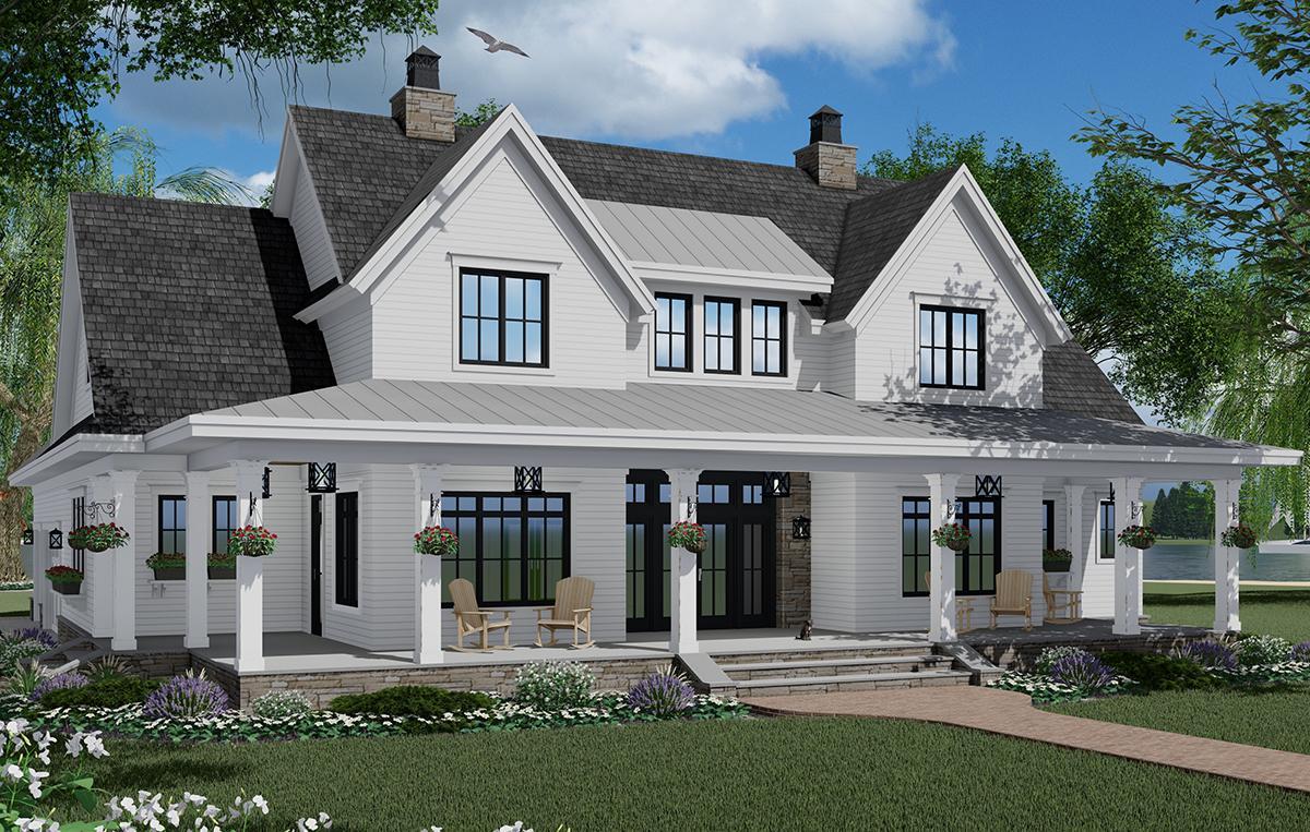Modern Farmhouse Plan: 2,570 Square Feet, 3 Bedrooms, 3.5 ...