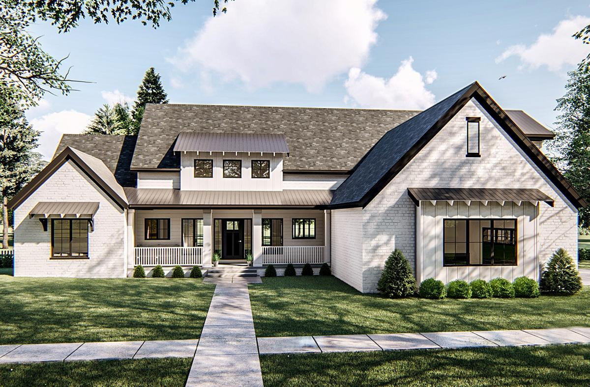 4 Bed, 4 Bath, 2736 Square Foot House Plan - #963-00334