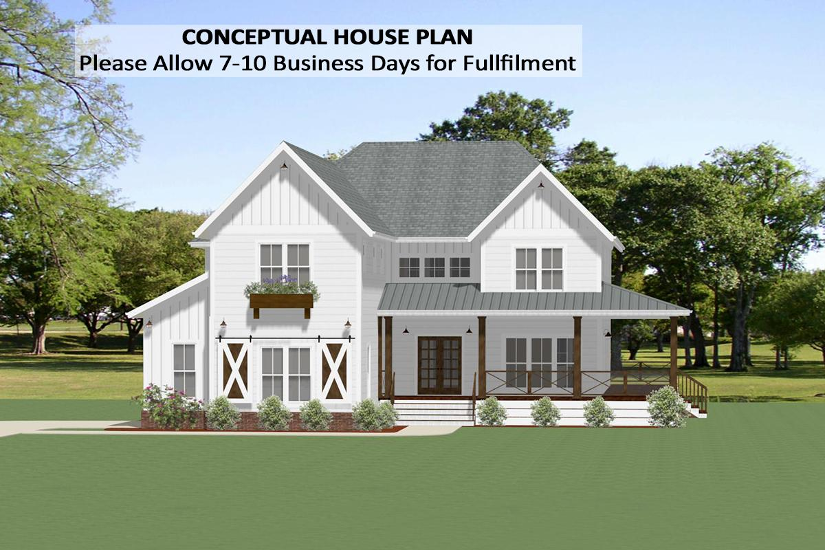 4 Bed, 4 Bath, 3502 Square Foot House Plan - #6849-00081