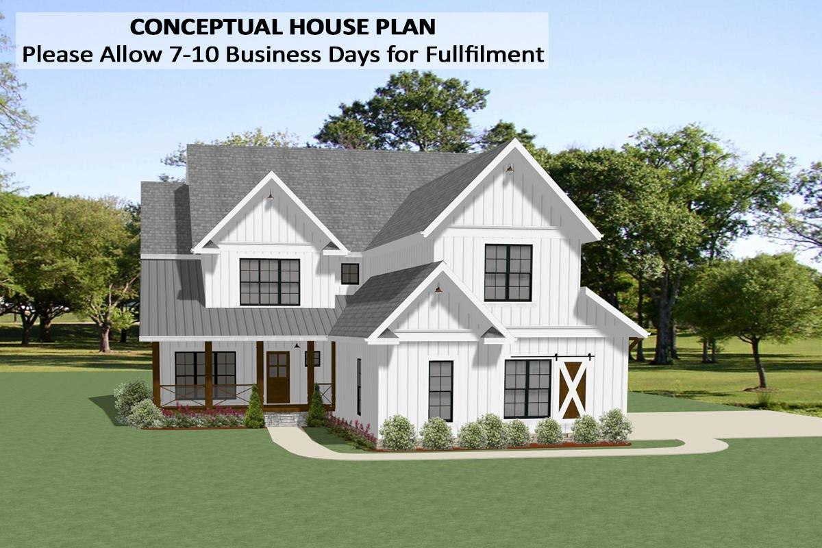 4 Bed, 3 Bath, 3320 Square Foot House Plan - #6849-00083
