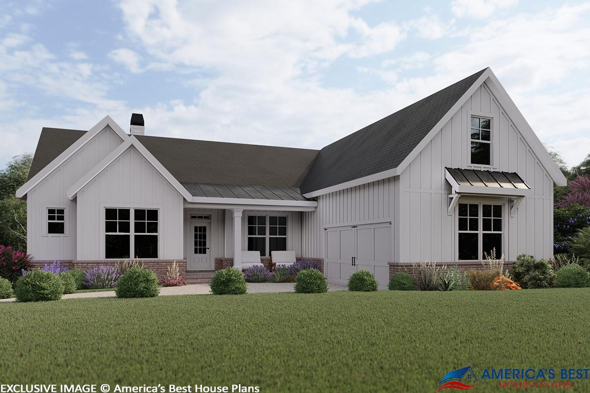 Modern farmhouse plan 1 771 square feet 3 bedrooms 2 - How long to paint a 3 bedroom house ...