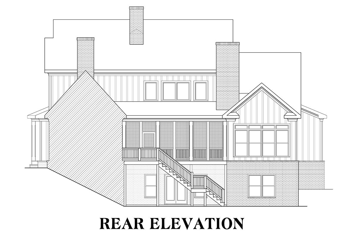 Modern Farmhouse House Plan #009-00277 Elevation Photo