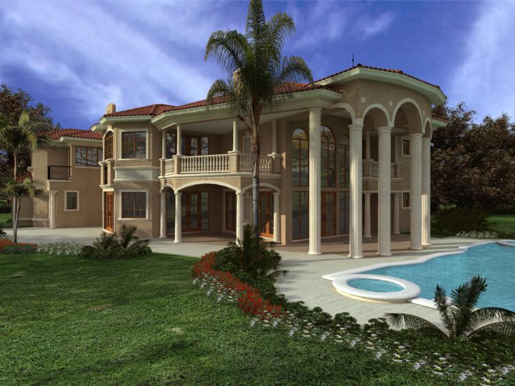 Luxury Home Plans With Pools | Luxury Plan 7 502 Square Feet 7 Bedrooms 7 5 Bathrooms 168 00094