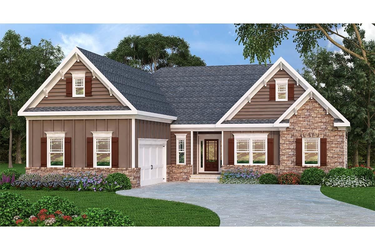 3 Bed, 2 Bath, 2107 Square Foot House Plan - #009-00082