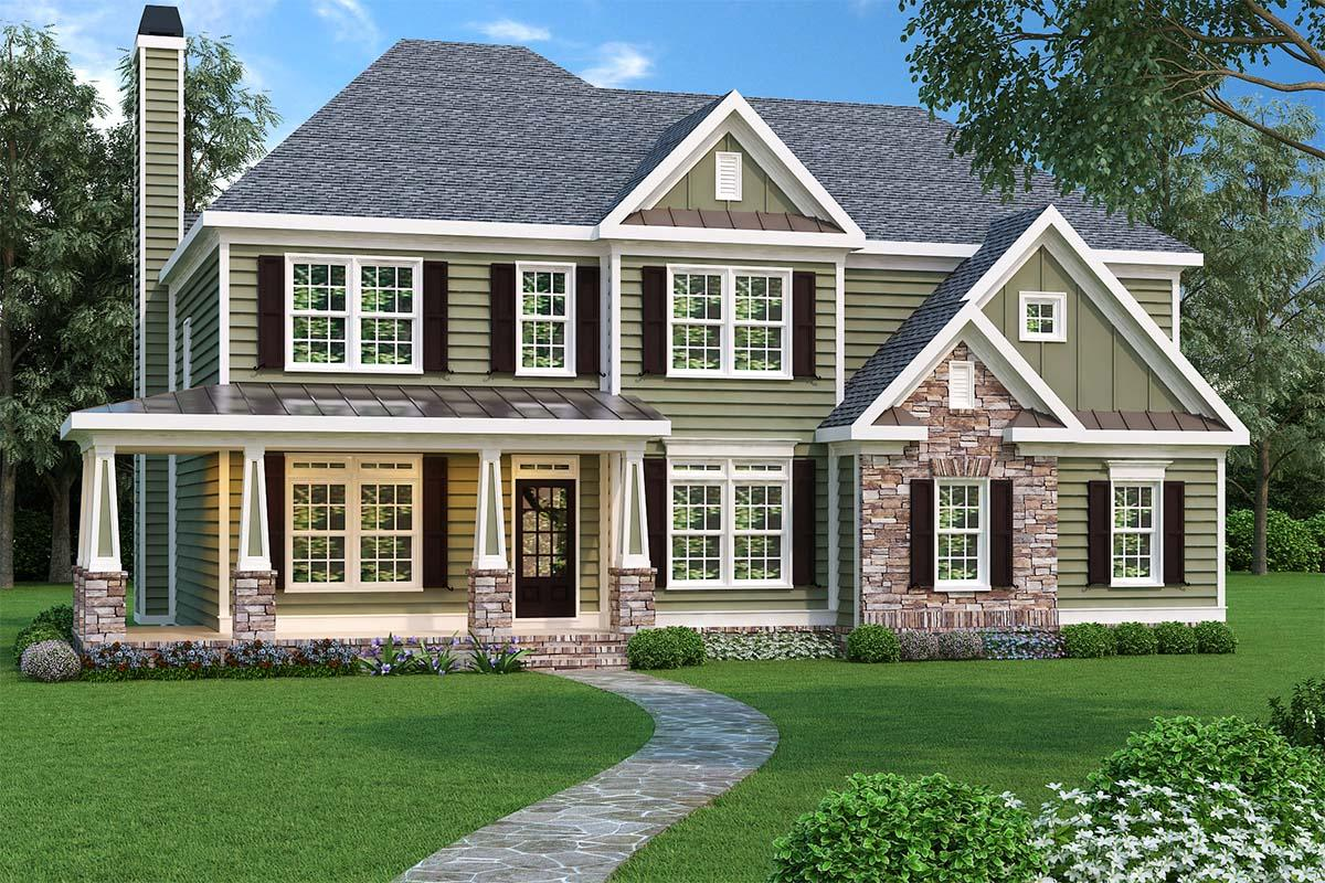 Traditional House Plan #009-00019 Elevation Photo