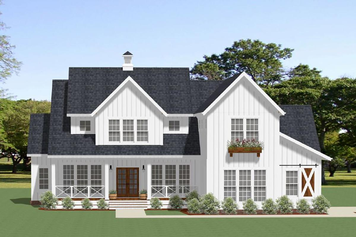 4 Bed, 3 Bath, 3163 Square Foot House Plan - #6849-00058