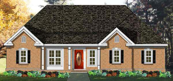 3 Bed, 2 Bath, 1831 Square Foot House Plan - #033-00061