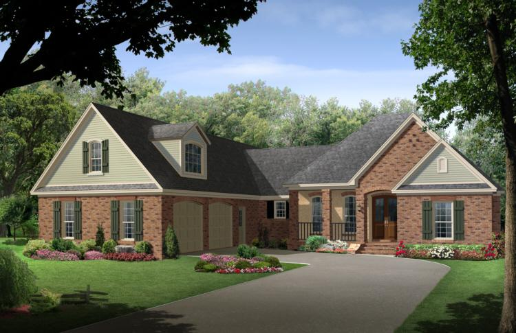 European plan 2 500 square feet 4 bedrooms 3 bathrooms for House plans with side garage