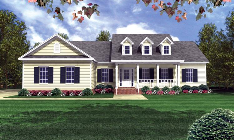 Ranch Plan: 1,800 Square Feet, 3 Bedrooms, 3 Bathrooms - 348-00063